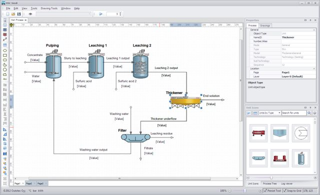 Hsc chemistry software for process simulation reactions equations the hsc sim module consists of graphical flowsheet and spreadsheet type process unit models the custom made variable list makes it possible to create many ccuart Choice Image